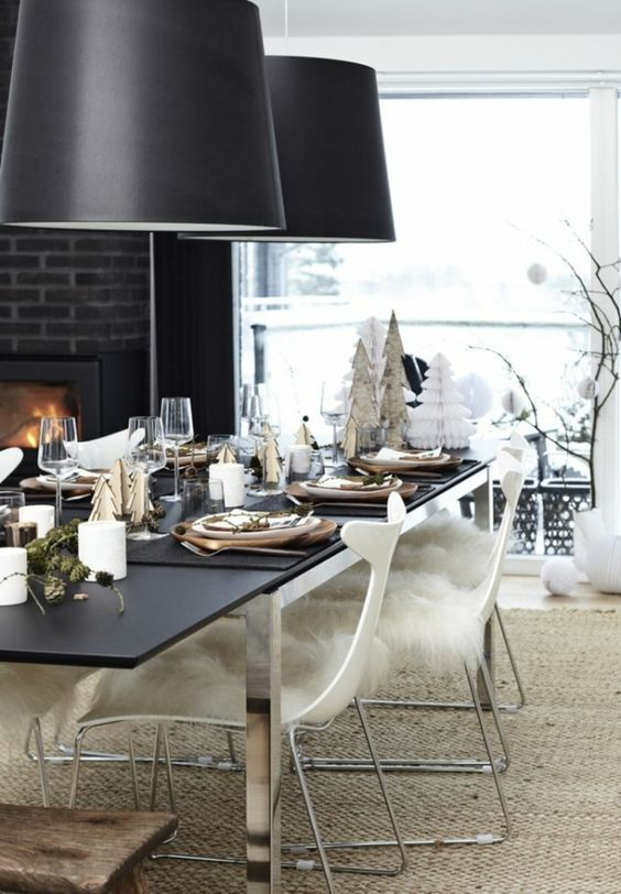 skandinavische weihnachtliche tischdeko weihnachtstisch pinterest dekoration. Black Bedroom Furniture Sets. Home Design Ideas