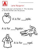 Alphabet Worksheets for Kids - Letter Recognition | Kids Learning ...