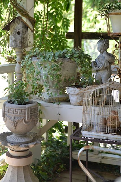 Shabby whites for the porch: