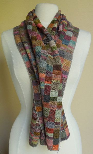 French Knitting Scarf : Cross stitch embroidery scarfs and needlework on pinterest