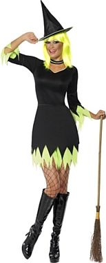 Witch Costume, Green and Black Halloween Costume http://www.partypacks.co.uk/witch-costume-green-and-black-pid93765.html