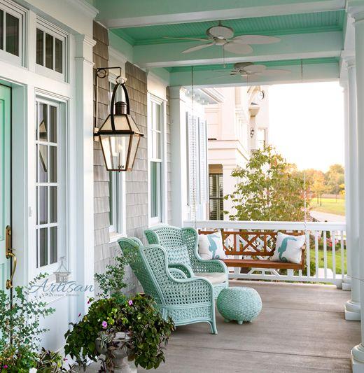 Coastal Porch Paint Ideas Ceiling Floor More Coastal Decor Ideas And Interior Design I House With Porch Interior Design Inspiration Home Interior Design