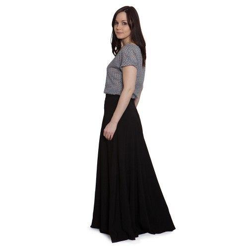 Schnittmuster: 1401 Gabriola Skirt - edel in schwarz