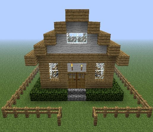 Simple Minecraft House Blueprints Google Search Kades