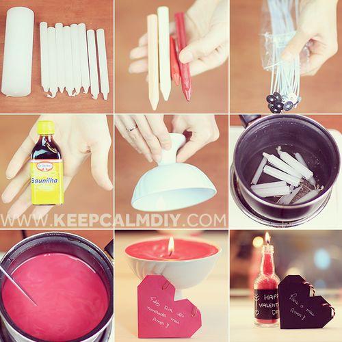 Como fazer velas perfumadas e coloridas DIY: