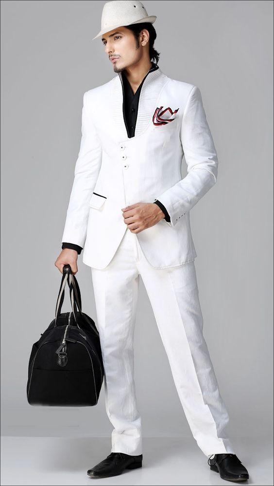 Designer-Three-Piece-Suit-White.jpg (900×1593)   His Style