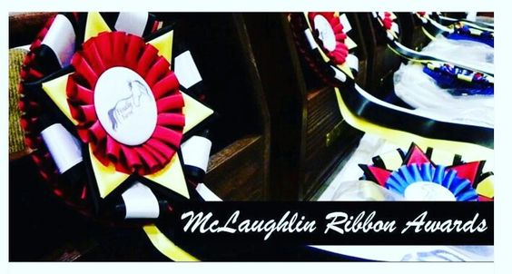 The Majestic Champion Rosette is TRULY a majestic sight! From $6.75 - you can design and customize it to make it unique! ~~ McLaughlin Ribbon Awards  www.mclaughlinribbonawards.com or call (919) 934-1344