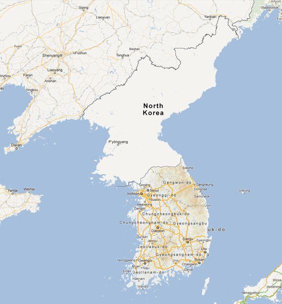 North Korea on Google Maps.