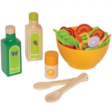 Ekobutiks® l ma boutique écologique | Jouets Bio | Jouets Hape | une magnifique sélection de jouets bio en bois, beaux & naturels pour la santé des enfants et de notre planète | Dinette Aliments Salades du jardin - Jouets Bio Hape