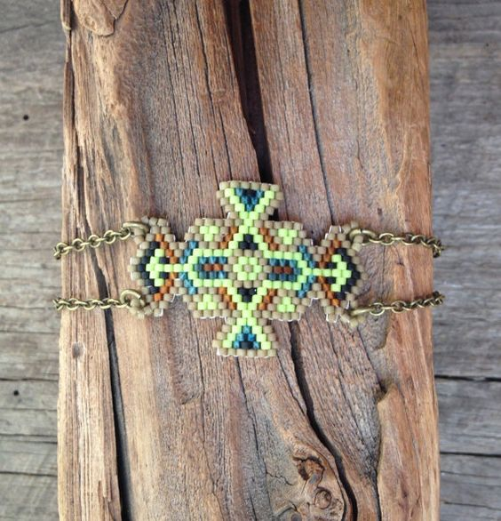 Hey, I found this really awesome Etsy listing at https://www.etsy.com/listing/246824965/ogma-seed-bead-and-brass-chain-bracelet