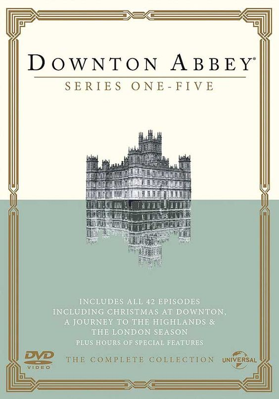 Downton Abbey: Series 1-5 Box Set DVD at BBC Shop (includes all Christmas Specials except 2014, so I might wait until the show finishes I think...)