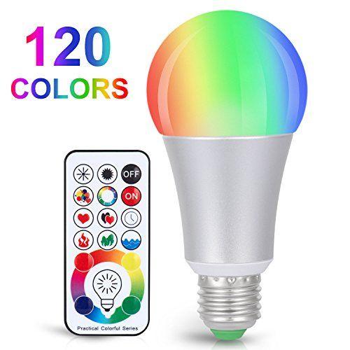 Sunnest 120 Colors Led Light Bulb Dimmable E26 Led Light Https Www Amazon Com Dp B078n2bxm Color Changing Light Bulb Led Light Bulb Color Changing Lights