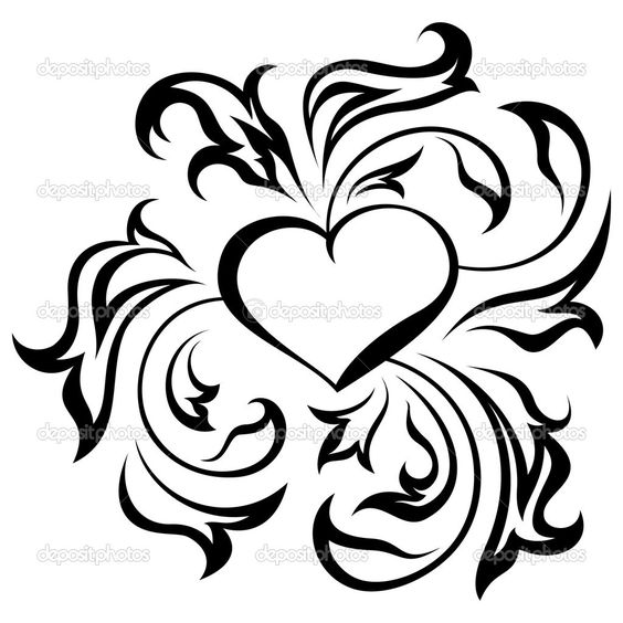 abstract heart Coloring Pages | Cart Cart Lightbox ...