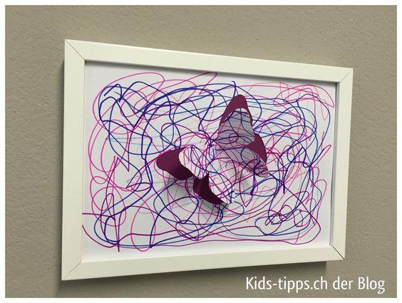 Kinderzeichnung als 3D Bild. Weitere tolle Ideen findet ihr auf dem Facebook Blog: www.facebook.com/Kindertraume