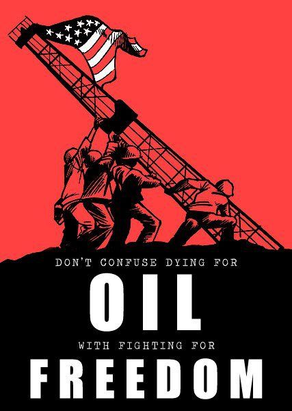 Can anyone tell me one war in recent memory that was not fought over oil? I think WW2 or Korea were probably the last ones.