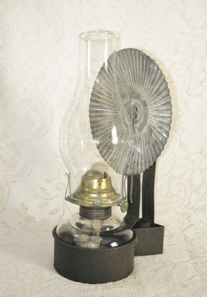 Antique Oil Lamp With Wall Bracket Amp Reflector Sold