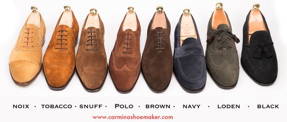 Carmina Suede colors