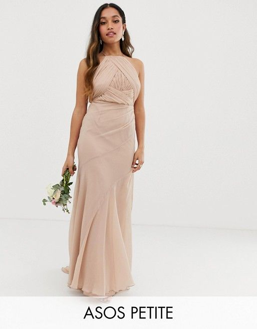 Asos Design Petite Bridesmaid Pinny Bodice Maxi Dress With Fishtail Skirt Asos Fishtail Skirt Dresses Bridesmaid Dress Styles