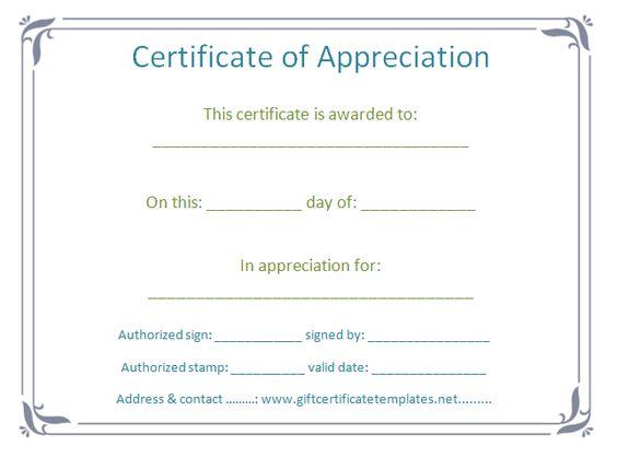 Accomplishment certificate of appreciation - Certificate Templates - certification of appreciation wording