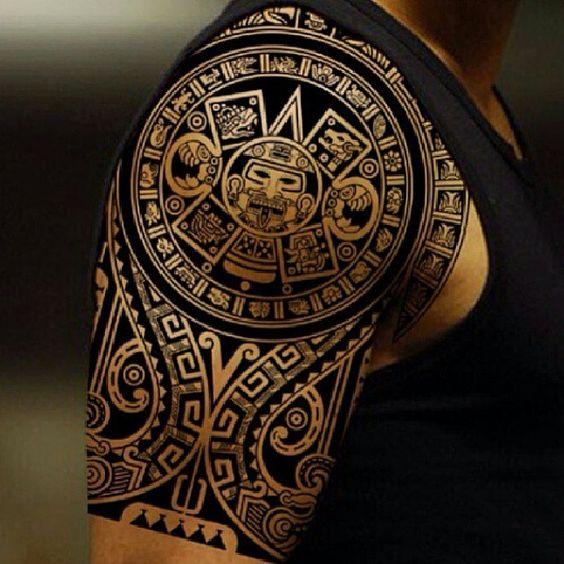 Aztec tribal shoulder tattoos google search tattoos for Aztec hand tattoo