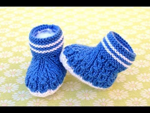 How To Knit Up Stitches On Booties : 40 + Knit Baby Booties with Pattern Cable, Crochet baby and Puff stitch cro...