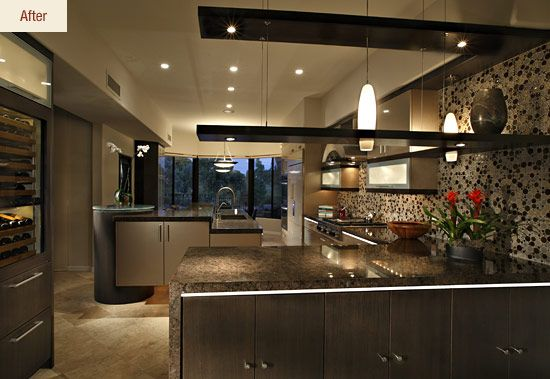 Amazing Actually I Hate This Kitchen, Just Pinning For The Peninsula With Floating  Shelving Over It | Kitchens | Pinterest | Contemporary Kitchen Design, ...