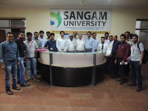 """An exclusive Campus placement Drive by """"SynapseIndia"""" was conducted in Sangam University. University is located in Bhilwara, Rajasthan. They offer technical programs including B.Tech/M.Tech, BCA/MCA, B.Sc/M.Sc, Ph.D as well as management programs in BBA/MBA. We interacted with students as well as college staff and found them very gentle and enthusiastic. We would also like to thank the staff for arranging nice arrangements for the complete campus placement drive."""