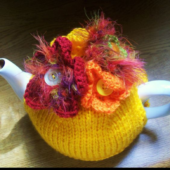 ❇Crochet Tea Cosies,  Coffee and Tea Cup and Mug Snugs and HugsTropical Tea Cosy