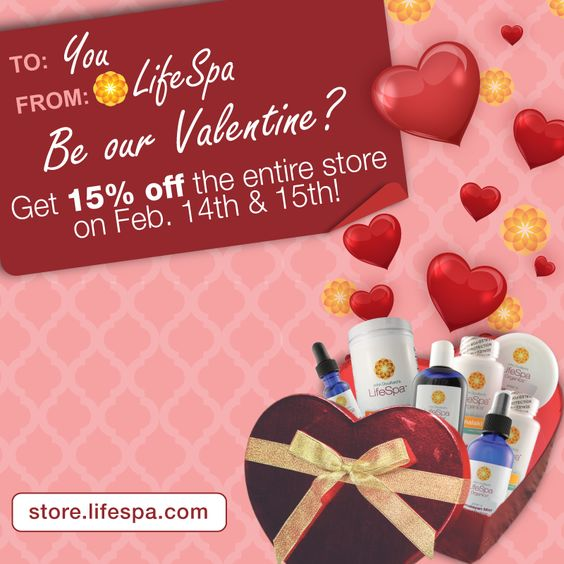 Two days only!  Visit store.lifespa.com to save on skincare for your lovey!