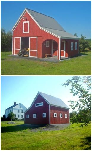 A vermont apple orchard barn this little pole barn for Tractor garage plans