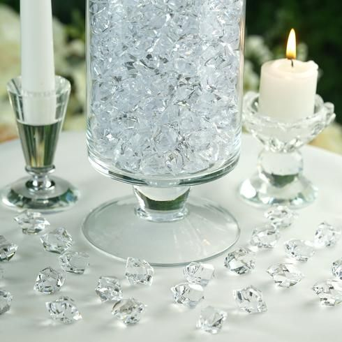 300 Pack Clear Large Acrylic Ice Bead Vase Fillers Table Decoration Vase Fillers Crystal Centerpieces Christmas Vases