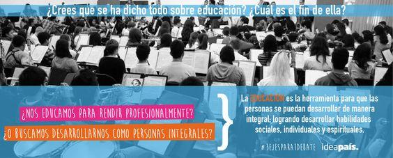 Agenda IdeaPaís: Educación: ¿Crees que se ha dicho todo? http://bit.ly/1mAtPAU