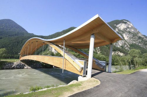 pedestrian bridge pirkach hasslacher norica timber pedestrian bridges pinterest tirol the. Black Bedroom Furniture Sets. Home Design Ideas