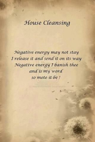 House Cleansing Chant Printable Spell Pages Witches Of