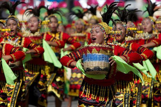 Lanzones festival street dancers,Camiguin Island,Philippines