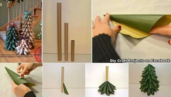 DIY - make a Paper Christmas tree.  You could even re-purpose the tube from a paper towel roll. ♡