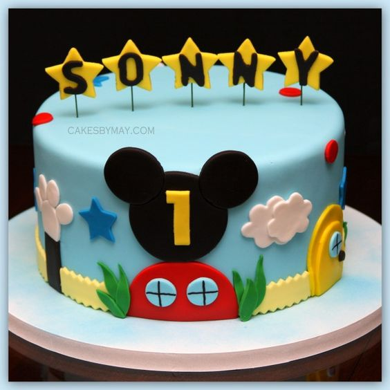 cute mickey mouse clubhouse cake!