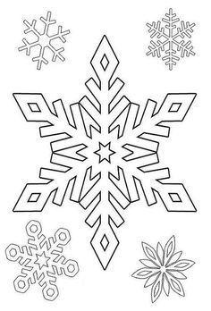 Ausmalbild Schnee Sterne Muster Malvorlagen Schneeflocke Vorlage Schneeflocke Schablone