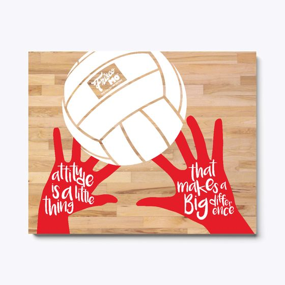 Discover Attitude Canvas Original Red T Shirt From Frisco Mo Art A Custom Product Mad Volleyball Senior Night Gifts Senior Night Gifts Volleyball Senior Gifts