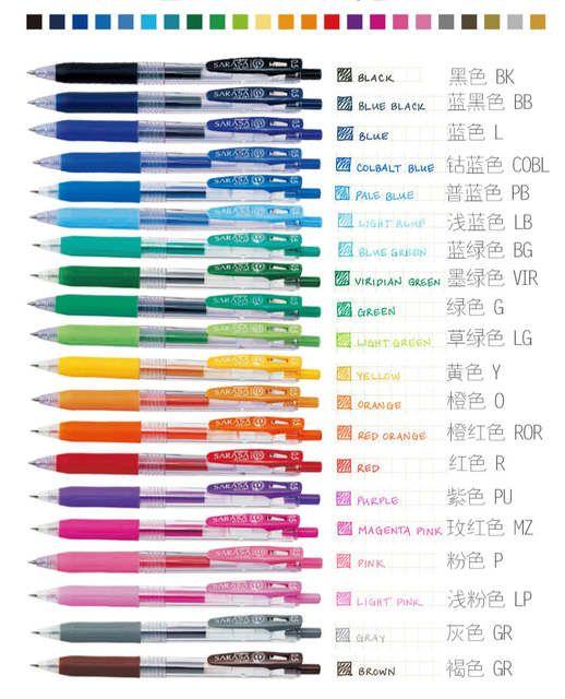 Pack Of 20 Assorted Colors Pen Japan Zebra Sarasa Jj15 Juice Color Gel Clip Pens Color Marker Ballpoint Pen 0 5 Mm 20 Colors Zebra Sarasa Gel Pens Gel Pens Set