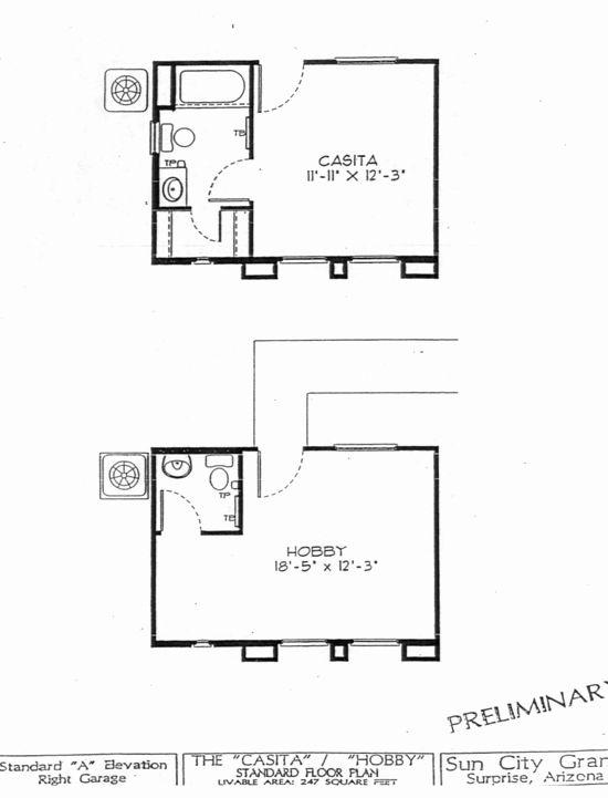 Small Casita Floor Plans Beautiful Del Webb Sun City Grand Casita Guest House Floor Plan Model