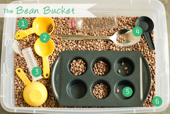 Bean Bucket to entertain a toddler