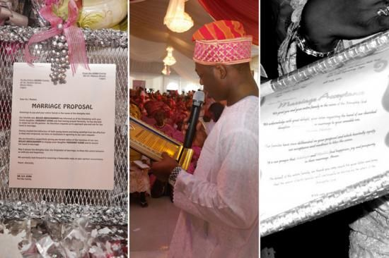 At a traditional Nigerian Yoruba wedding, the groomu0027s family must - marriage proposal letter