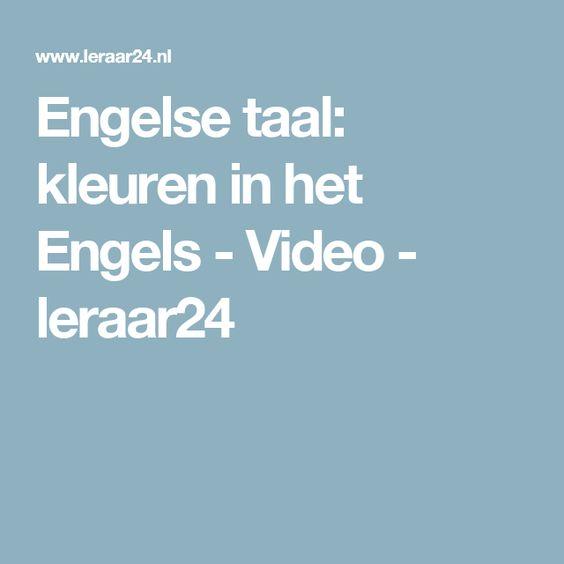 Engelse taal: kleuren in het Engels - Video - leraar24