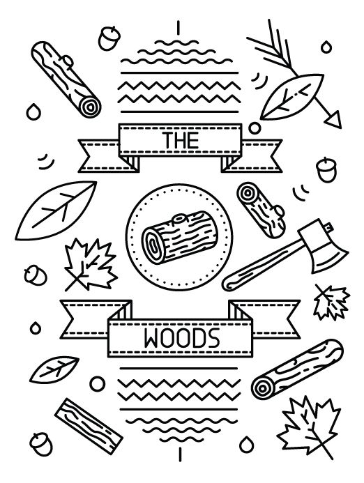Little Burgundy Fall/ Winter 2012 Mag The Woods Issue by Tyler Dale, via Behance