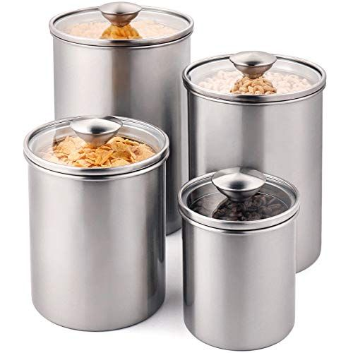 Deppon Airtight Container Set Food Storage Containers Stainless Steel Food Storage Airtight Canisters