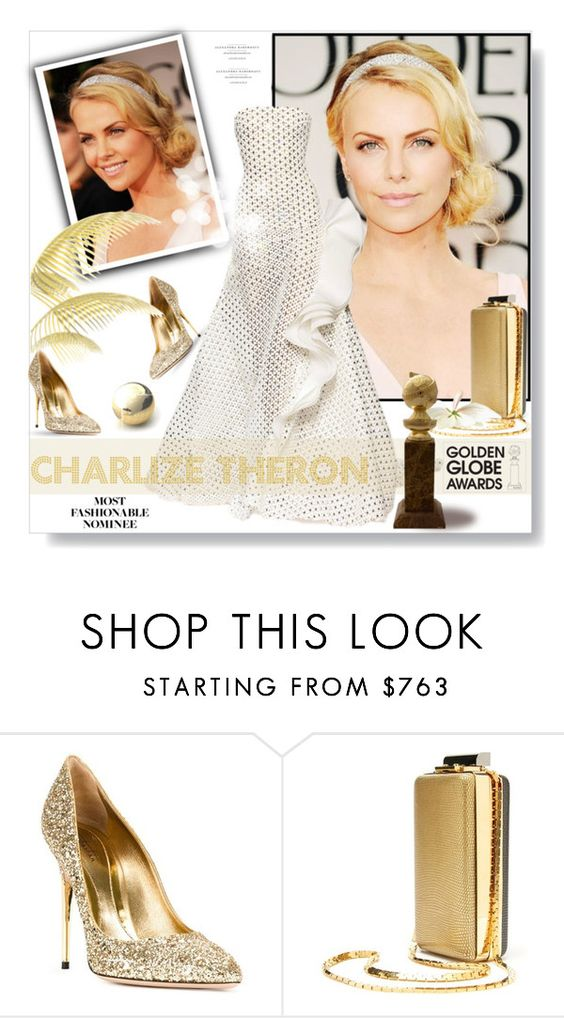 """""""Golden Globes 2016: Charlize Theron"""" by desert-belle ❤ liked on Polyvore featuring Sebastian Milano and Lanvin"""
