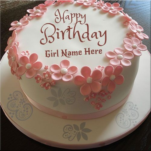 Write Girls Name On Happy Birthday Wishes CakeName Cakes For Girl Beautiful Cake Pic Online FreeCreate