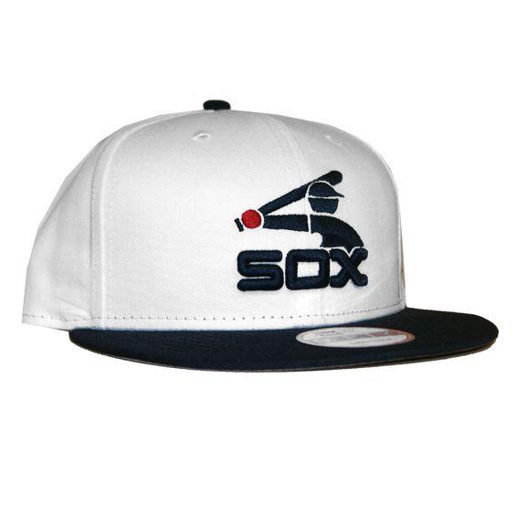 New Era 950 Chicago White Soxs Grey Bottom SnapBack In White Black