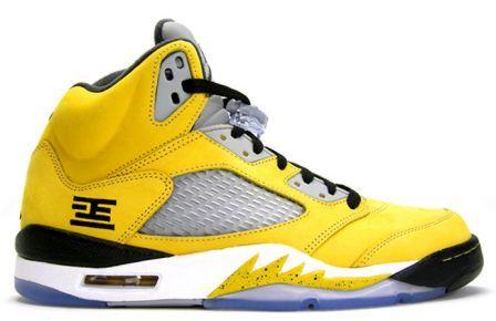 "Air Jordans 5 Men's Shoes ""Tokyo 23"" Yellow White Black - Sale UK"